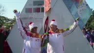 Russian journalist Vladimir Pozner relayed the Olympic torch in Sochi on Friday morning ahead of the opening cermony of the Winter Games CLEAN...