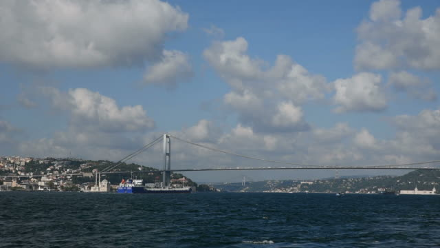 Russian Lpg Gas Tanker Passing The Bosphorus