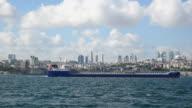 Russian Lpg Gas Tanker Passing The Bosphorus