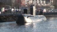 MS Russian museum submarine at St. Pauli Fischmarkt / Hamburg, Hamburg, Germany