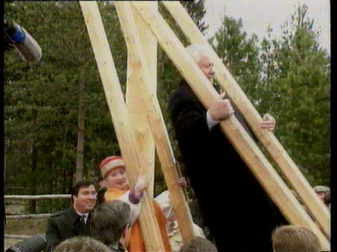 / Russian President Boris Yeltsin on the election campaign trail / Yeltsin demonstrates his fitness following his recent heart problems by dancing...