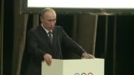 Russian President Vladimir Putin arrived in the Sochi region ahead of Friday's opening Olympic Games ceremony in typically confident mood declaring...