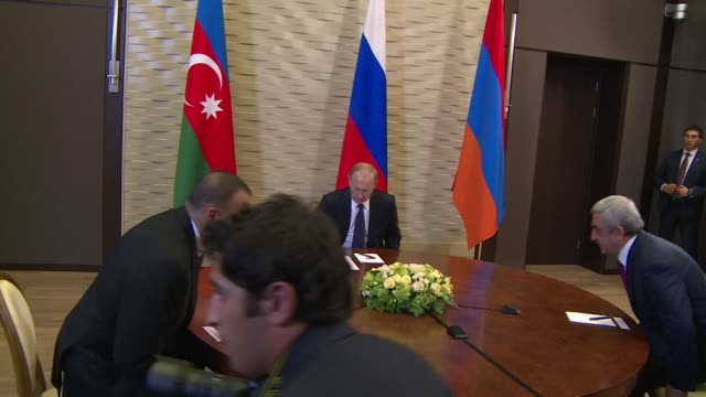 Russian President Vladimir Putin said he believed there is sufficient good will to resolve the Karabakh conflict as he hosted Sunday the leaders of...