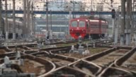 Russian Railways Trains in the city / Russia, Moscow