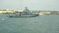Russian warship in the harbor