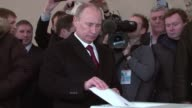 Russians voted on Sunday in elections expected to see Vladimir Putin reclaim the Kremlin for a historic third term in the face of protests by the...