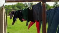 Rustikale clothelines-tight