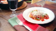 Rustic Homemade Ravioli with Tomato, Basil and Parmesan Cheese
