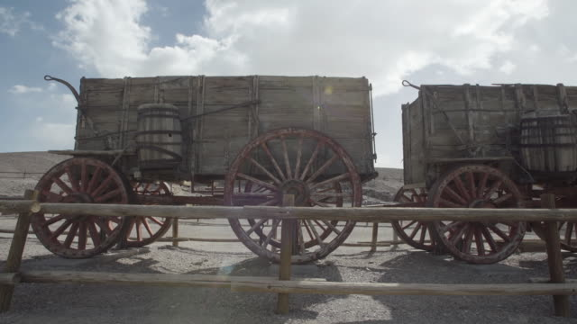 Rustic wagons in the desert