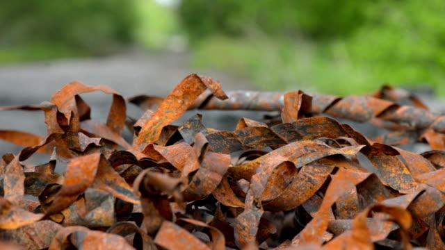 Rusty strips of metal