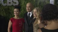 Ruthie Ann Miles Ken Watanabe and Kelli O'Hara at 2015 Tony Awards Arrivals at Radio City Music Hall on June 07 2015 in New York City