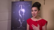 INTERVIEW Ruthie Ann Miles on what receiving this award means to her at 2015 Tony Awards Winner's Circle at Radio City Music Hall on June 07 2015 in...