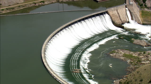 Ryan Dam And Falls  - Aerial View - Montana, Cascade County, United States
