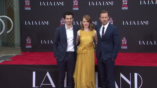 Ryan Gosling Emma Stone Damien Chazelle at TCL Chinese Theatre on December 07 2016 in Hollywood California