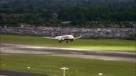 Michael O'Leary speaks at AGM ENGLAND Essex Stansted Airport EXT Ryanair aircraft approching landing