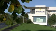 Michael O'Leary speaks at AGM IRELAND Dublin EXT Ryanair headquarters Ryanair HQ INT Various of Michael O'Leary arriving to address Annual general...