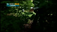ITV's 'Big Clean Up Week' ENGLAND Leeds Hawksworth Wood Primary School Stephen's Garden EXT Reporter LIVE to camera as away TRACK Steve Leach LIVE...