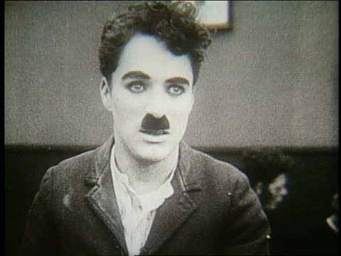 B/W 1920's close up of Charlie Chaplin