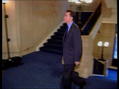MP's interests LIB London Westminster Former Trade and Industry Secretary Peter Mandelson MP up stairs and along LIB Cabinet Office MInister Jack...