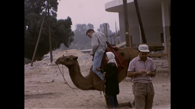 1960's Man riding camel - Home Movie Israel