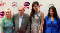 WTA's PreWimbledon Party Red carpet arrivals Maria Sharapova speaking to press and interview SOT / Ana Ivanovic arriving and posing with others / Ana...