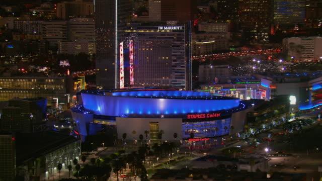 LA's Staples Center Arena At Night