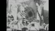 1900's Tightrope walker at Luna park in Coney Island