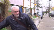 MP's vote in favour of airstrikes in Syria Shows exterior shots Jeremy Corbyn Leader of the Labour Party leaving his home walking with his bicycle on...