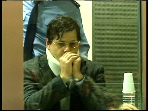 CRIME / Sabine Dardenne gives evidence in Dutroux case POOL via AGENCY MS Marc Dutroux sitting behind bullet proof glass in court during trial on...