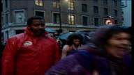 Sacha Baron Cohen's spoof journalist Borat arrives with Kazakh entourage at premiere of his new film **Beware flash photography** London Leicester...