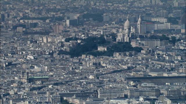 Sacre-Coeur  - Aerial View - Île-de-France, Paris, France
