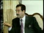 Saddam Hussein being interviewed 1990
