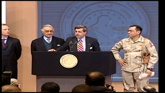 Saddam Hussein obituary FILE / TX INT Paul Bremer press conference at time of capture of Saddam SOT we got him