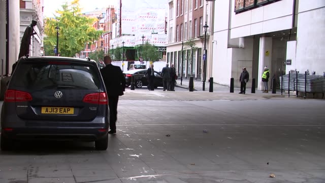 Sadiq Khan and Michael Gove arrive at BBC ENGLAND London Marylebone New Broadcasting House EXT Car arriving and Sadiq Khan into New Broadcasting...