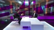Sadiq Khan elected as Labour's candidate for London Mayor / prospects for Jeremy Corbyn ENGLAND London GIR INT Sadiq Khan MP LIVE STUDIO interview SOT