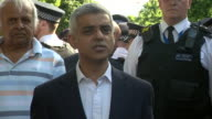 Sadiq Khan is heckled by residents near the site of Grenfell Tower