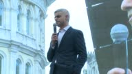 INTERVIEW Sadiq Khan on Donald Trump the movie and growth at Trafalgar Square on February 26 2017 in London England