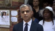 Sadiq Khan saying Grenfell Tower residents are angry at 'not just the poor response from the local council but years of neglect from the council and...