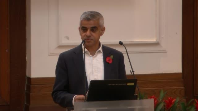Sadiq Khan says schools should do more to address knife crime Chris Hall interview SOT INT Sadiq Khan speech SOT re knife crime CUTAWAYS teachers at...