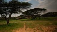 Safari camp set up in the bush