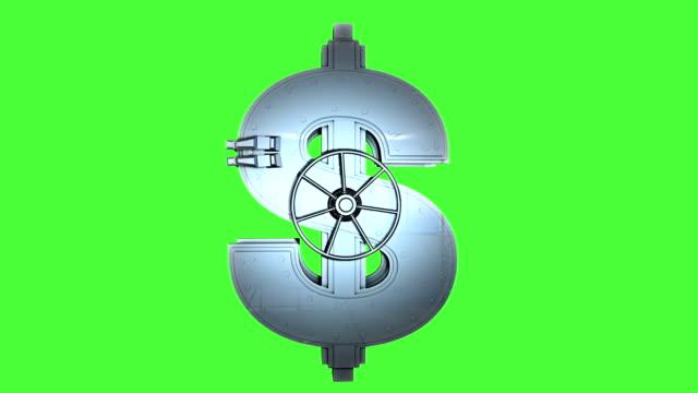 Safe Stahl in der Form eines Dollarsymbol
