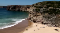 Sagres beach, Algarve, Portugal - popular for surfers