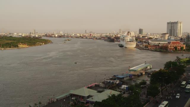 Saigon River at Sunset