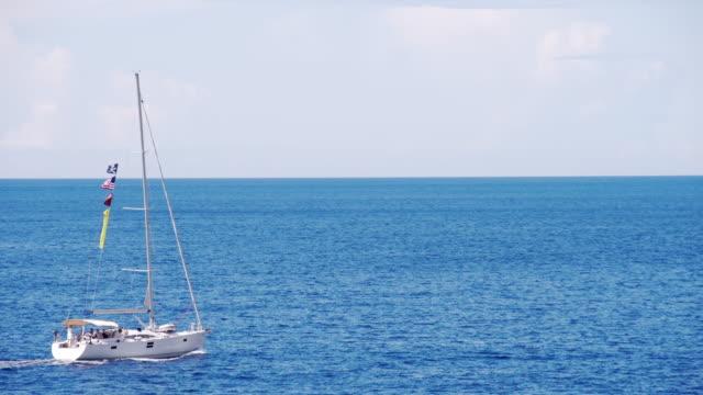 LS Sailboat Cruising The Sea