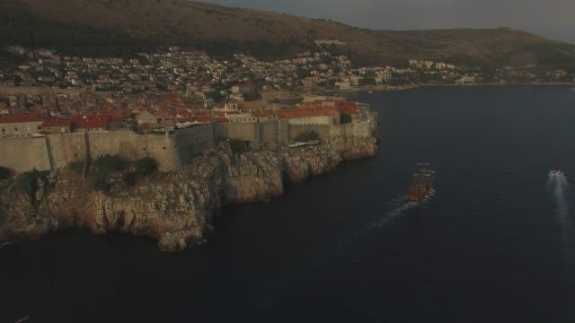 A sailboat in Dubrovnik