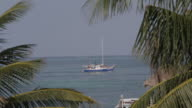 A sailboat in the Carribean Sea, Belize beauty shot