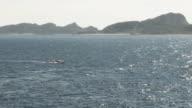 Sailboat navigating in rough seas