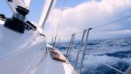 SLO MO Sailboat On Rough Sea