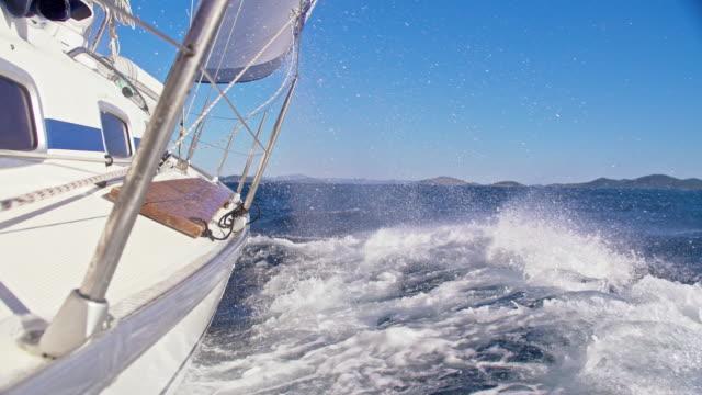SLO MO Sailboat sailing on the sea