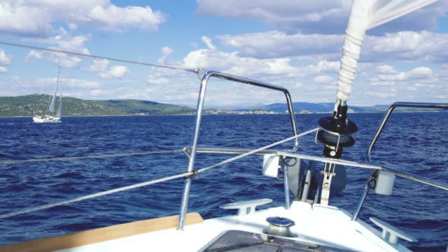 WS-Segelboot segeln auf dem Meer
